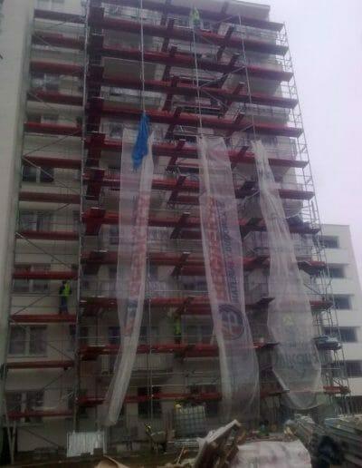 Dostawa i montaż rusztowań dla SKANSKA S.A. na budowie SKY HOUSE w Lublinie