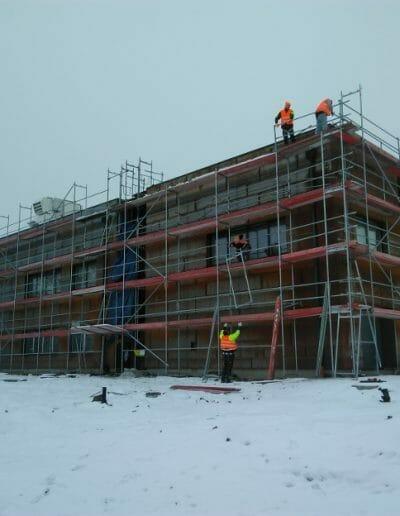 Dostawa i montaż rusztowań dla budimex s.a. na Budowie linii PKP