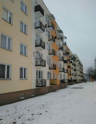 Malowanie i remont balkonów w Poniatowej przy ul. Nałęczowskiej