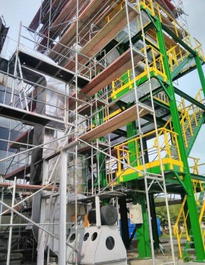 montaże rusztowań na instalacjach przemysłowych